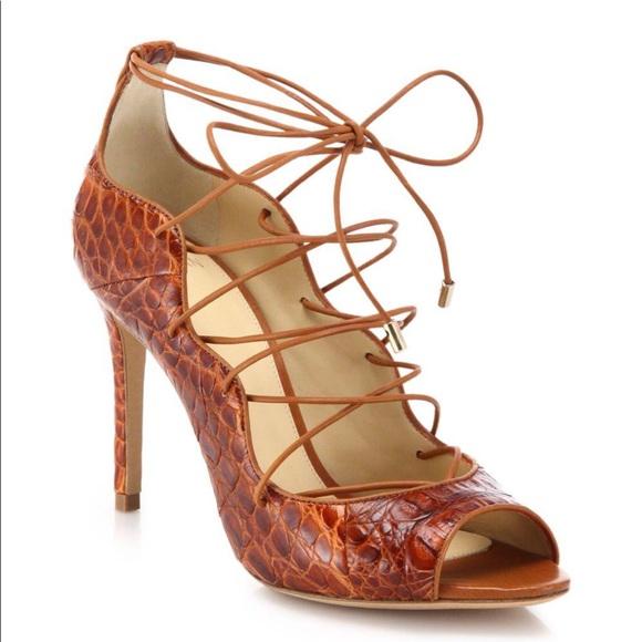 9f9a757436 Alexandre Birman Shoes | Crocodile Lace Up Pumps | Poshmark